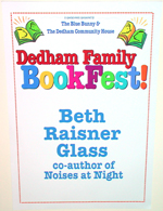 Dedham family book fair sign
